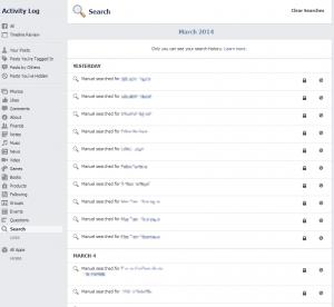 Guía para ver historial de búsquedas en facebook (2 pasos)