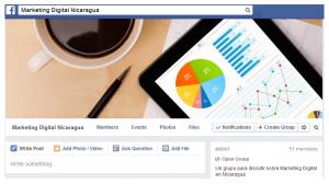 Grupo de Facebook sobre Marketing Digital en Nicaragua